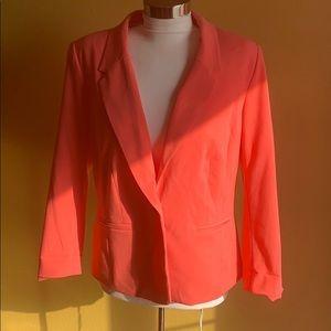 Kensie Tailored One-Button Pink Blazer Size Large